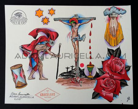 Crucifixion Tattoo Flash  Tattoo Flash Thumbnail