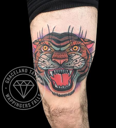 Traditional Tiger Tattoo Tattoo Thumbnail