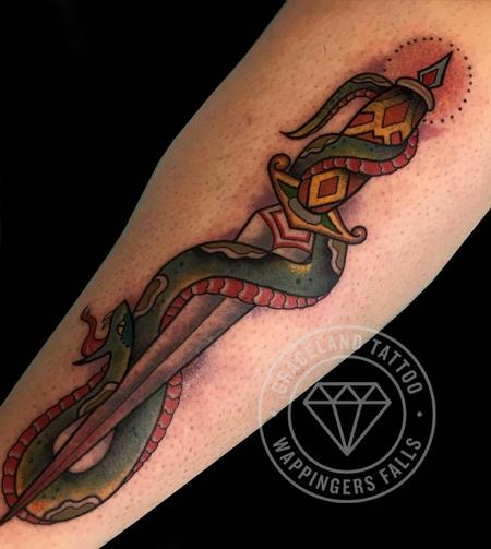 Snake and Dagger Tattoo Tattoo Thumbnail