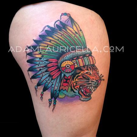 Traditional Tiger Chieftain Tattoo Tattoo Thumbnail